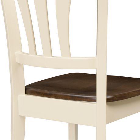 Corliving Dillon Curved Vertical Slat Backrest Cream And