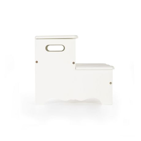 Guidecraft Classic Storage Step Up Stool White Walmart