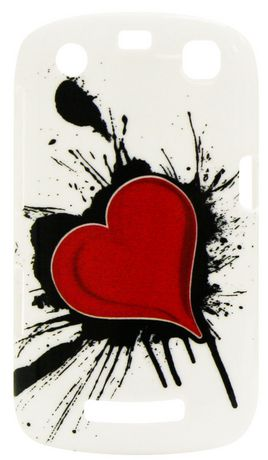 Exian Case for Blackberry Curve 9360 - Heart on Ink Design - image 1 of 2