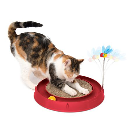 Catit Play 3 in 1 Circuit Ball Toy with Scratch Pad - image 1 of 4