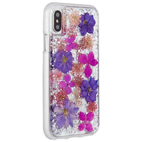 Étui Karat Petals de Case-Mate pour iPhone X Purple - image 2 de 3