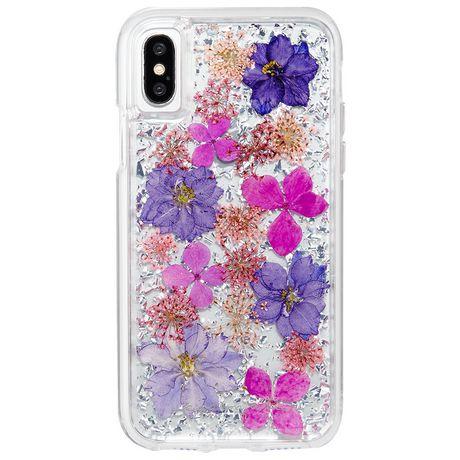 Étui Karat Petals de Case-Mate pour iPhone X Purple - image 1 de 3