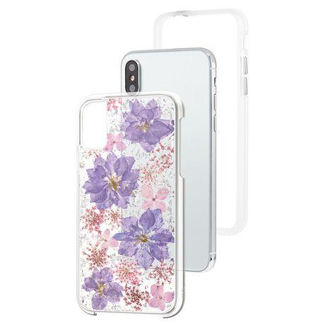 Étui Karat Petals de Case-Mate pour iPhone X Purple - image 3 de 3