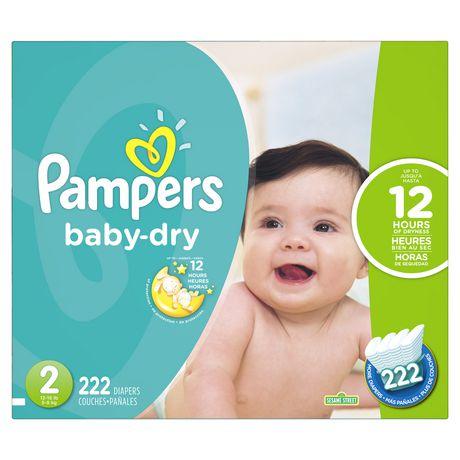 Couches sèches pour bébé de Pampers de format économique plus - image 1 de 1