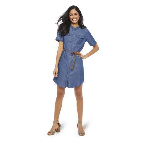 George Women's Short Sleeve Denim Shirtdress - image 5 of 6