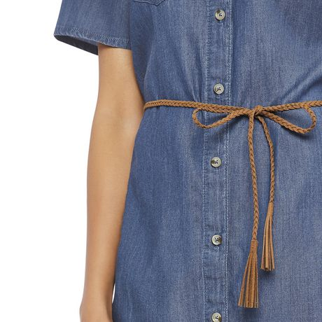 George Women's Short Sleeve Denim Shirtdress - image 4 of 6