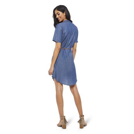 George Women's Short Sleeve Denim Shirtdress - image 3 of 6