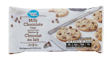 Pépites de chocolat au lait Great Value - image 1 de 2