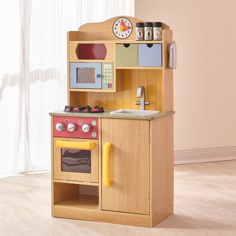 Teamson Kids My Little Chef Burly Wood Kitchen with Accessories - image 1 of 4