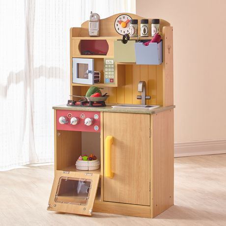 Teamson Kids My Little Chef Burly Wood Kitchen with Accessories - image 2 of 4