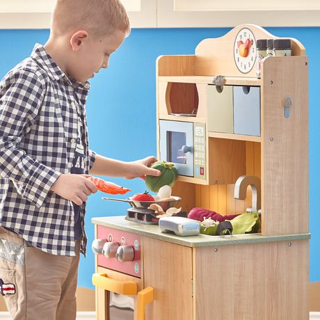 Teamson Kids My Little Chef Burly Wood Kitchen with Accessories - image 3 of 4