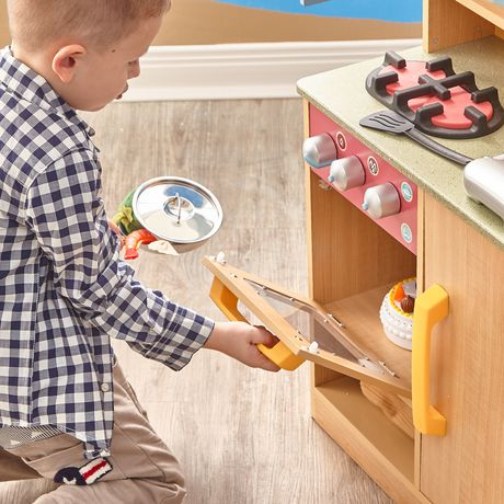 Teamson Kids My Little Chef Burly Wood Kitchen with Accessories - image 4 of 4