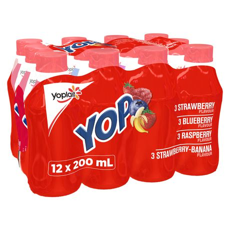 Yop by Yoplait Strawberry/Blueberry/Raspberry/Strawberry-Banana Drinkable Yogurt - image 1 of 7