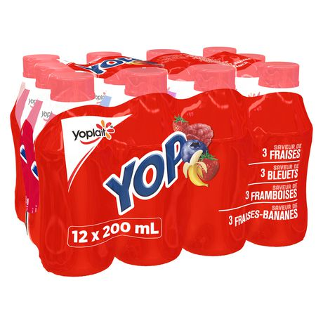 Yop by Yoplait Strawberry/Blueberry/Raspberry/Strawberry-Banana Drinkable Yogurt - image 2 of 7