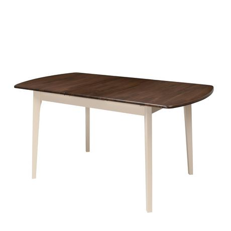 Table oblongue extensible dillon de corliving en bois brun for Table extensible canada