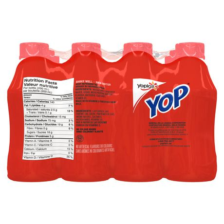Yop by Yoplait Strawberry/Blueberry/Raspberry/Strawberry-Banana Drinkable Yogurt - image 3 of 7