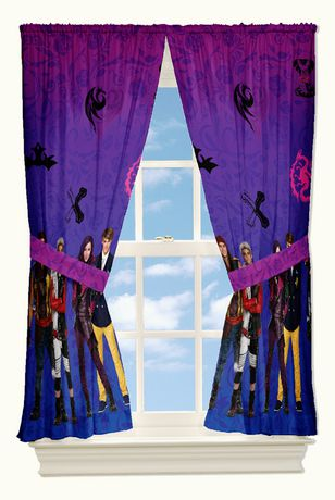 Disney Descendants Quot Auradon Damask Quot Drapes Walmart Canada