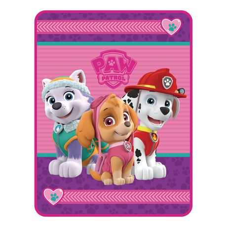 Paw Patrol Girl Quot Puppy Tracks Quot Throw Walmart Canada