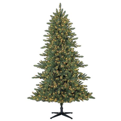 Holiday Time 7' Milford Index Quick Set® Pine Christmas Tree with Micro LED Clear Lights
