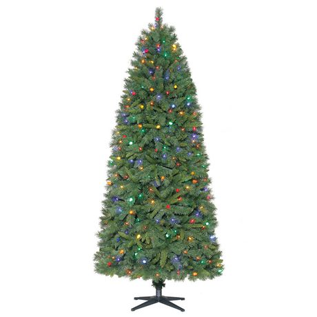 Holiday Time 7.5' Thompson Quick Set® Fir Christmas Tree with LED Multicolour Lights