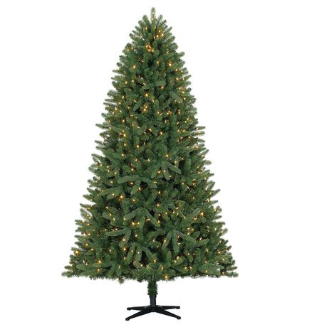 Holiday Time 7.5' Ellston PE/PVC Simple Shape™ And Quick Set® & Quick Fold™ Spruce