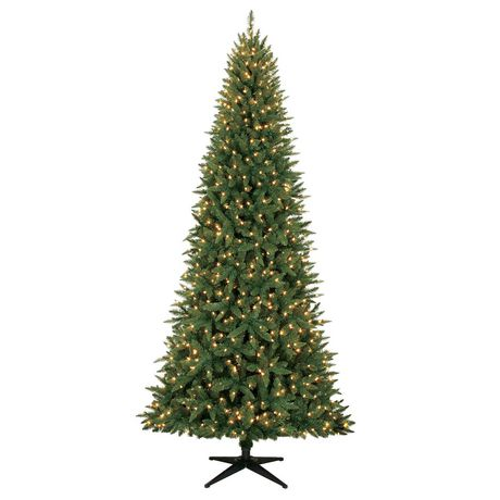 Holiday Time 9' Williams™ PE/PVC Quick Set® Slim Pine Christmas Tree with Clear Lights