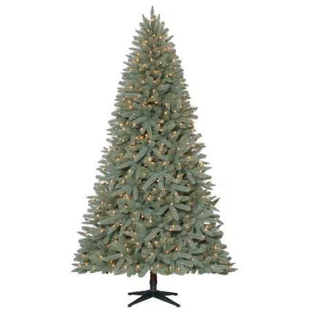holiday time 75 birchwood pepvc quick set fir christmas tree with clear lights