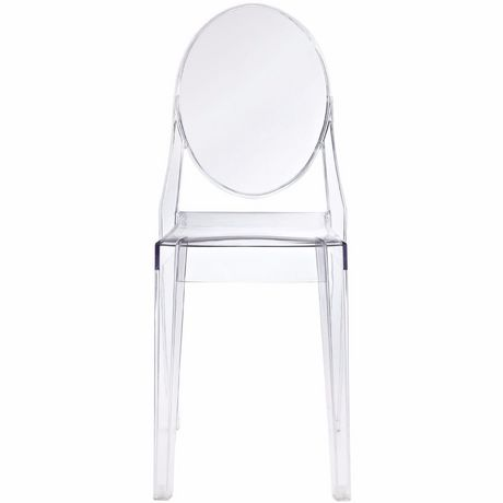 Nicer Furniture Polycarbonate Plastic Transparent Crystal Side Chair  Without Arms