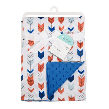 Baby S First By Nemcor Reversible Baby Blanket Arrows