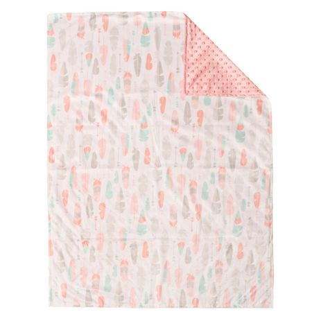 Baby S First By Nemcor Reversible Baby Blanket Pink