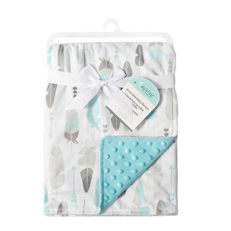 Baby S First By Nemcor Reversible Baby Blanket Aqua