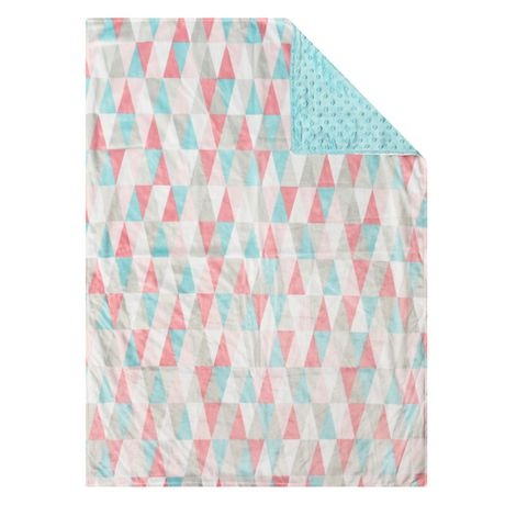 Baby S First By Nemcor Reversible Baby Blanket Geometric