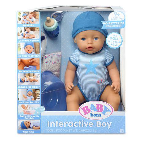 Baby Born Interactive Boy Doll Blue Eyes Walmart Canada