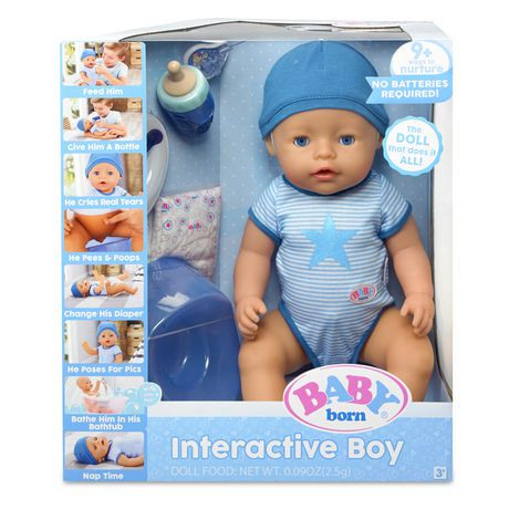 Baby Born Interactive Boy Doll Blue Eyes Walmart Canada