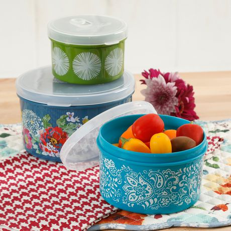 pioneer woman plastic containers