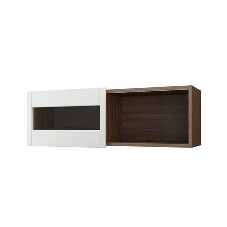 tablette murale s quence noyer et blanc walmart canada. Black Bedroom Furniture Sets. Home Design Ideas