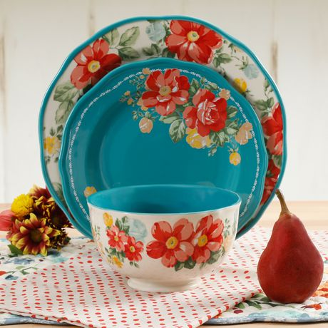THE PIONEER WOMAN VINTAGE FLORAL 12-PIECE DINNERWARE SET | Walmart Canada & THE PIONEER WOMAN VINTAGE FLORAL 12-PIECE DINNERWARE SET | Walmart ...