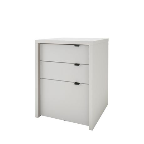 Chrono 3 Drawer Filing Cabinet, White