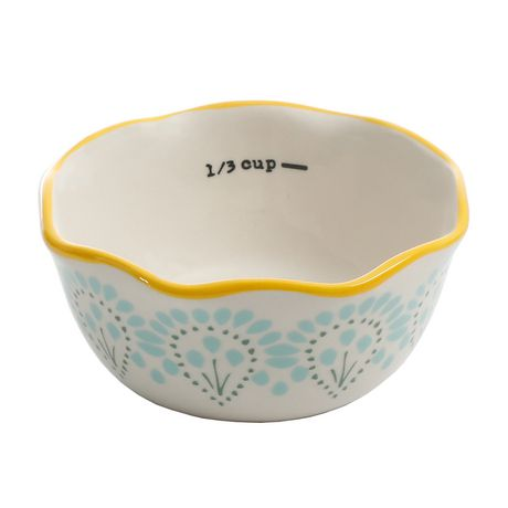 The Pioneer Woman Vintage Floral 4-PIECE Measuring Bowl with 4-CUP Measuring Cup, 5-PIECE Set - image 7 of 8