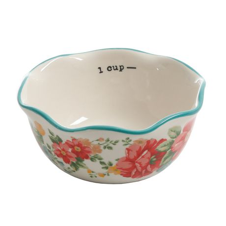 The Pioneer Woman Vintage Floral 4-PIECE Measuring Bowl with 4-CUP Measuring Cup, 5-PIECE Set - image 5 of 8