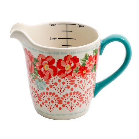 The Pioneer Woman Vintage Floral 4-PIECE Measuring Bowl with 4-CUP Measuring Cup, 5-PIECE Set - image 3 of 8
