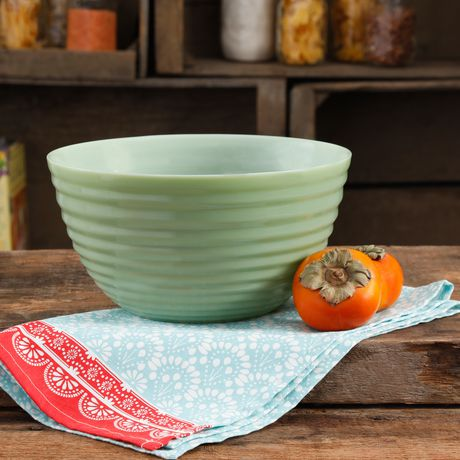 THE PIONEER WOMAN TIMELESS BEAUTY 10-INCH RIBBED GLASS BOWL - image 1 of 2