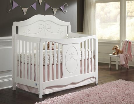 storkcraft princess 4 in 1 convertible crib white. Black Bedroom Furniture Sets. Home Design Ideas
