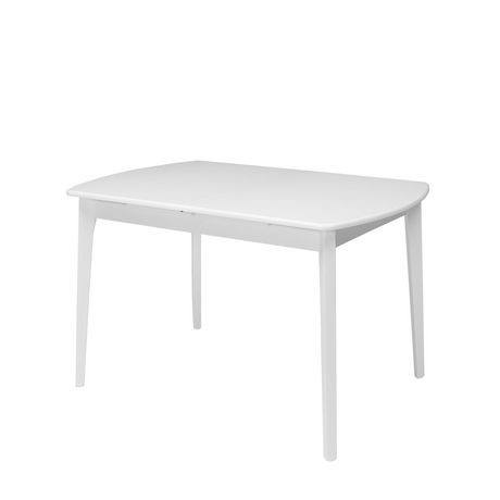 Table oblongue extensible dillon de corliving en bois for Table extensible canada