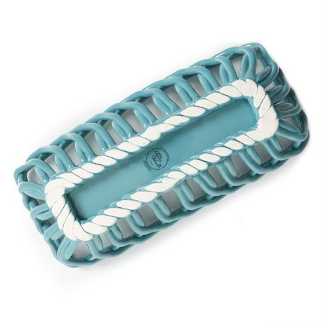 The Pioneer Woman Timeless Beauty Turquoise Bread Basket