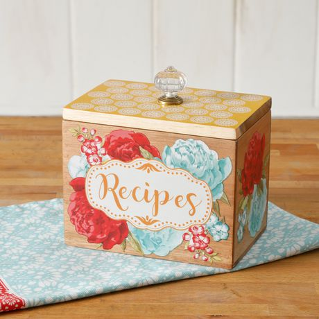 The Pioneer Woman Blossom Jubilee Recipe Box With Knob Walmart Canada
