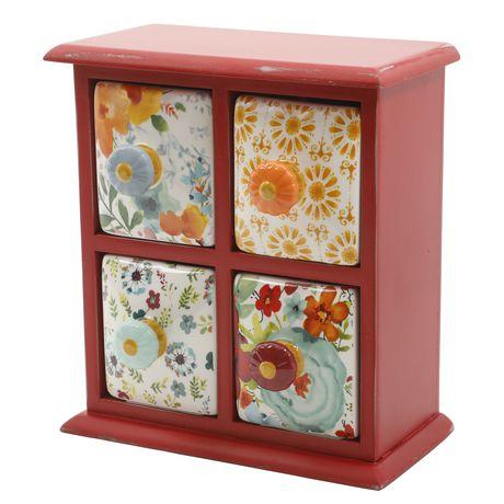 Boîte d'épices à 4 tiroirs Flea Market de The Pioneer Woman en rouge - image 2 de 2