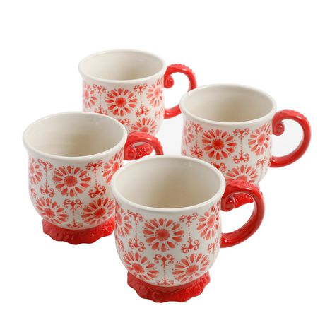 The Pioneer Woman Floral Bursts Footed Mug Set | Walmart ...