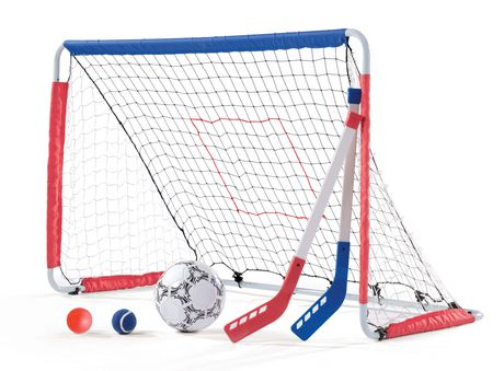 Ens. de jeu 3-en-1 Soccer, Hockey and Pitchback Goal de Step2 - image 1 de 5