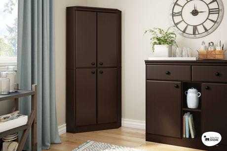 armoire de coin morgan de south shore 4 portes walmart. Black Bedroom Furniture Sets. Home Design Ideas